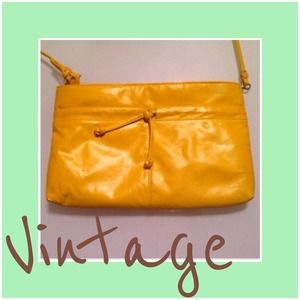 Vintage faux leather crossbody/clutch
