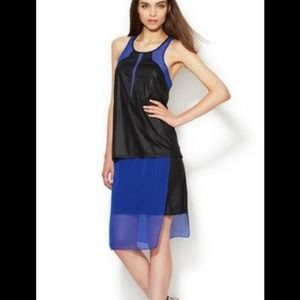 Helmut Lang Vena Colorblock Combo Dress.      NWT