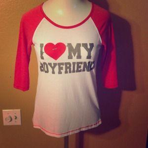 Tops - I ❤️ my boyfriend tee