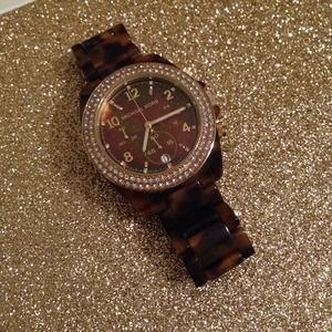 Michael Kors Jewelry - Michael Kors Madison tortoise shell watch