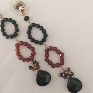 Jewelry - Black Quartz and Garnet 14kt gold HANDMADE BY ME💜