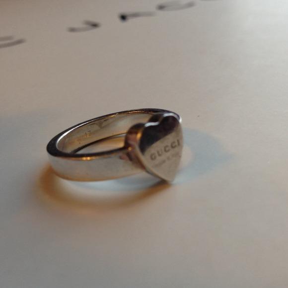 372b66c48 Gucci Jewelry | Salesterling Silver Heart Ring Size 7 | Poshmark