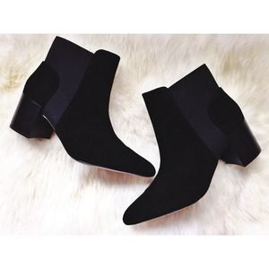 🎈Zara Suede Ankle Boot with Block Heel