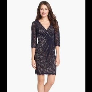 adrianna papell Dresses & Skirts - Navy lace dress