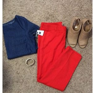 GAP Pants - Gap slim cropped pants