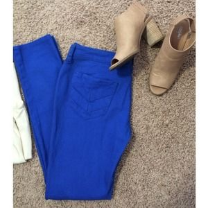 City Street Denim - Cobalt blue skinny jeans