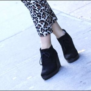Shoes - Lace up wedges