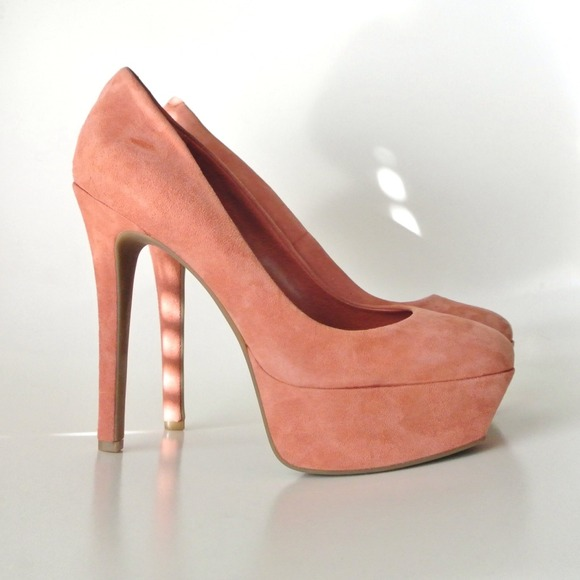 Jessica Simpson Shoes - Jessica Simpson Blush Suede Pumps