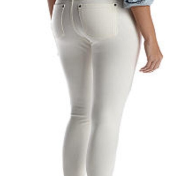 Hue white denim jeggings
