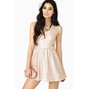 Dancing Queen Sequin Side Cut Out Dress