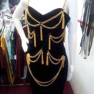 Velvet Chain Dress