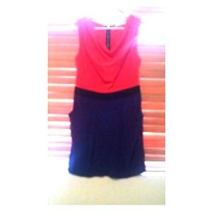Dresses & Skirts - Two tone slouch-neck dress w/ pockets