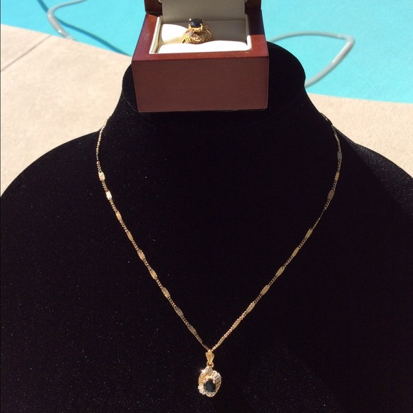 43 off 18k gold Jewelry 18 Karat Saudi Gold Set Ring Necklace 117