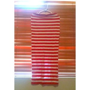 Dresses & Skirts - Orange & white stripe maxi skirt