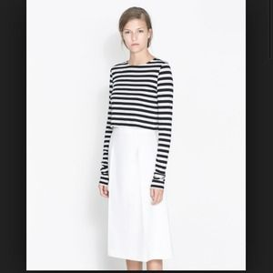 Zara Tops - Zara striped crop top