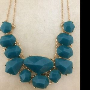 Teal gold chain necklace