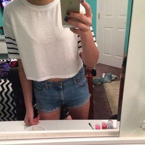 Pants - Denim high waisted shorts