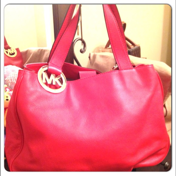 c33eb6cd478ec5 MK FULTON EAST WEST TOTE -MANDARIN RED. M_532e66cd0fb6cd35831d9321. Other  Bags you may like. NWT NEW Michael Kors Kelsey Large ...