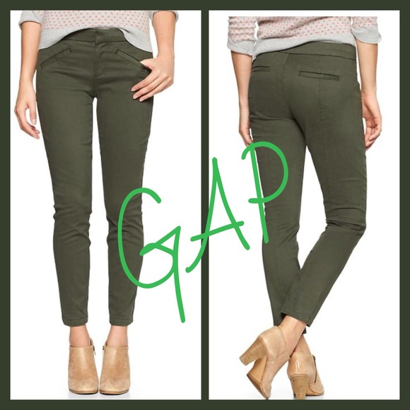 36% off GAP Pants - GAP Olive Green Ultra Skinny Pants from ...