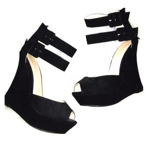 Forever 21 Double Ankle Strap Platform Shoes