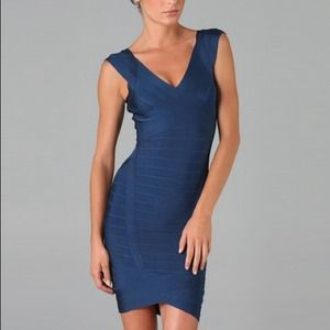 Navy Herve Leger dress