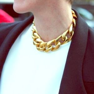 Faux gold chain necklace