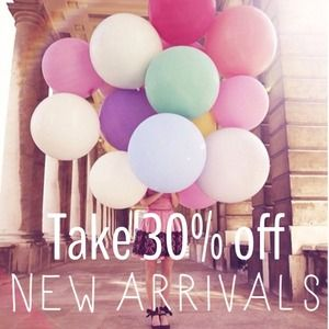 30% Off New Arrivals!