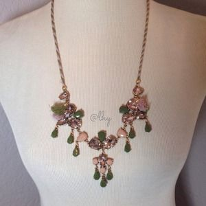 J.Crew Vintage Jewel Tie Necklace