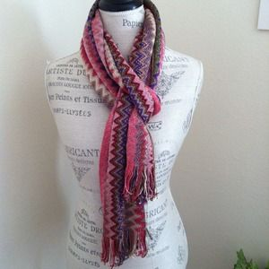 Missoni Accessories - New with Tag! MISSONI Zigzag Scarf, Metallic/Pink