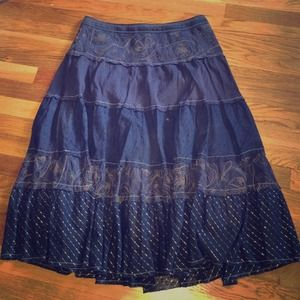 Dresses & Skirts - 🎉🎊HP🎊🎉 Barney's navy tiered skirt