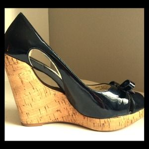 Sophie Max Shoes - Sophie Max Black Patent Leather Wedge