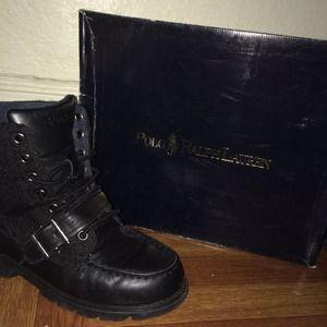 Ralph Lauren Black Ranger Hi II Boots