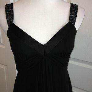 David's Bridal Dresses & Skirts - ❌ CLEARANCE: Beaded Black Chiffon Dress