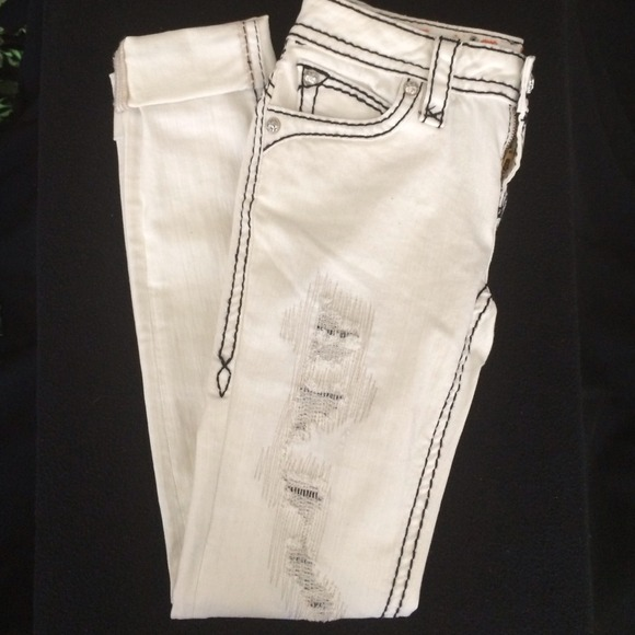 70% off Rock Revival Denim - Rock Revival Johanna white skinny ...