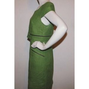 Phoebe couture green zipper dress