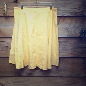 Dresses & Skirts - ⬇️ Yellow Skirt with Flower Embroidery