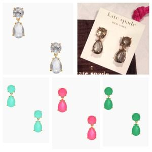 NWT! Kate Spade drop earrings - several colors!