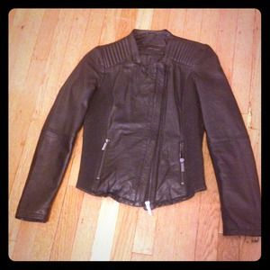 ZARA genuine leather moto jacket size M