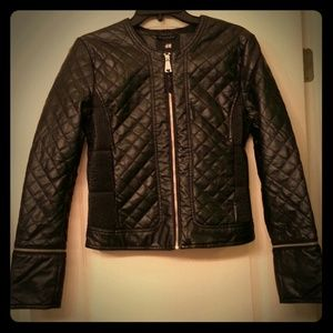 REDUCED NWT H&M Faux Leather Jacket