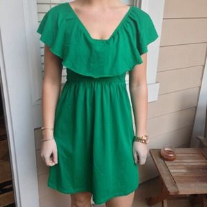 Pretty green Revelry dress