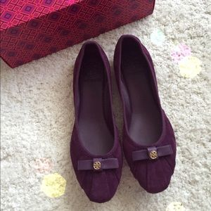 Tory Burch Ally suede flat