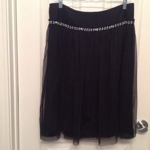 Express black tulle skirt