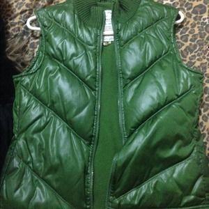 Green old navy vest