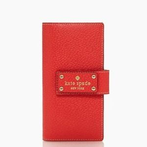 Authentic kate spade Wellesley Stacy red wallet