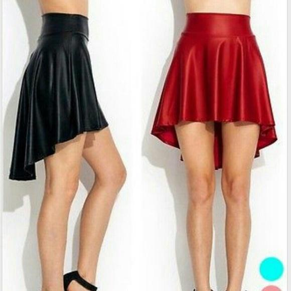Faux leather asymmetrical skirt s m l from Vixen city co's closet ...