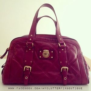 Marc Jacobs Quilted Satchel in Burgundy