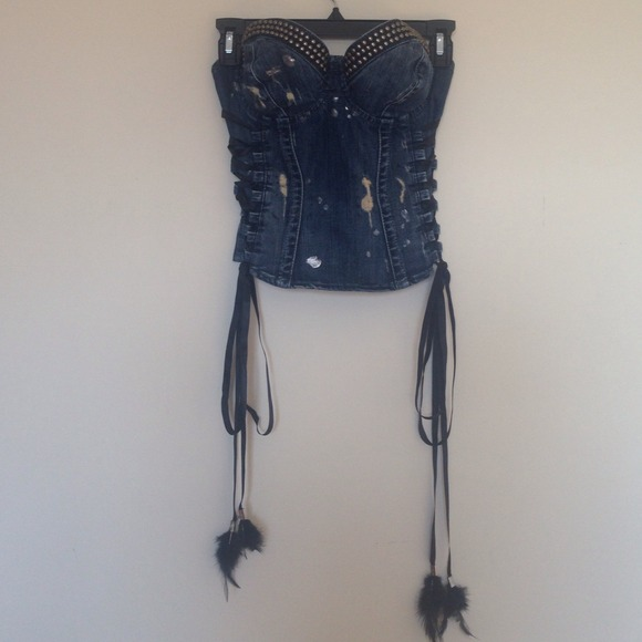 c96ed3156e Guess Tops - Guess Denim bustier limited edition