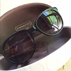 Coach Accessories - Coach Black & Tortoise Frame Sunglasses 1