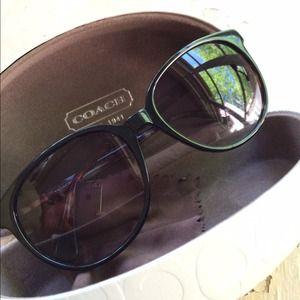 Coach Accessories - Coach Black & Tortoise Frame Sunglasses