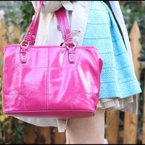 Nine West Bags - Nine West Pink Patent Handbag 1